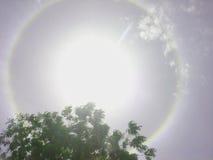Fenómeno óptico 2 del halo Fotos de archivo