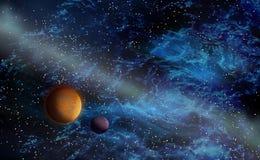 Fenómeno del espacio profundo libre illustration
