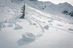 Fenómenos raros de los rodillos de la nieve Foto de archivo libre de regalías