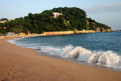 Fenals beach. At Lloret de Mar Spain Royalty Free Stock Photos
