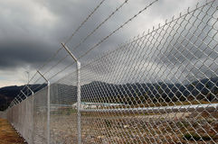 Fence. Cyclone wire fence Stock Image