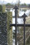 Fence. A Fleur de Lis Fence Royalty Free Stock Photo