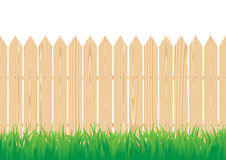Fence. The wood fence and the green grass Stock Images