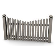 Fence. 3d render of fence (architecture exterior element Stock Photos