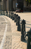 Fence. Chain fence in a street of Kiev Royalty Free Stock Images