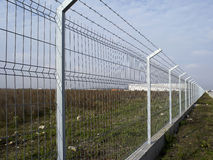 Fence. New fence protection a propriety Royalty Free Stock Photo