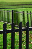 Fence. Metal fence in zigzag shape Royalty Free Stock Image