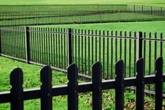 Fence. Metal fence in zigzag shape Royalty Free Stock Photography