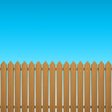Fence. Wood fence with blue sky background Stock Photo