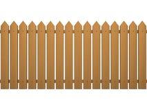 Fence. Wood fence on white background Royalty Free Stock Photos