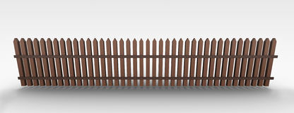 Fence. 3D rendered illustration of a common wooden fence Royalty Free Stock Images