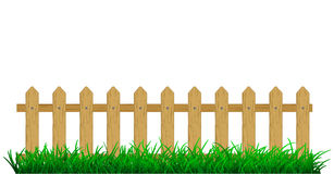 Fence. Background green grass with fence Stock Image
