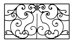 Fence. Antique  fence pattern isolated on white background Royalty Free Stock Photography