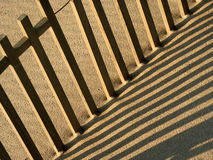 Fence. In the beach Royalty Free Stock Images