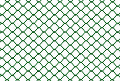 Fence. Fuensu simple green background white background Vector Illustration