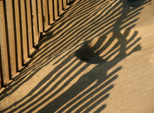 Fence. In the beach Stock Photos