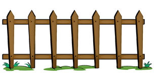 Fence. Illustration of fencing on a white background Stock Photo