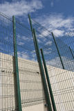 Fence. Welded fence with blue sky in background royalty free stock image