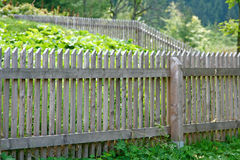 Fence. Wooden fence in small village Magurka, Slovakia stock images