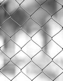 Fence. With swallow depth of field, blu background Stock Images