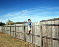 On the fence Stock Photography