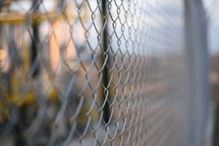 Fence. Metallic fence Stock Photography