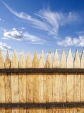 Fence. Wooded fence and blue sky Stock Image