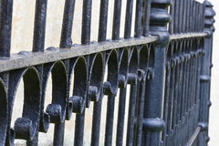 Fence. Ornate wrought iron fence closeup Royalty Free Stock Images