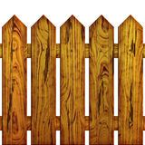 Fence. The fence on white background, The Illustration 3D. isolated object Royalty Free Stock Photos