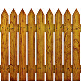 Fence. The fence on white background, The Illustration 3D. isolated object Royalty Free Stock Images