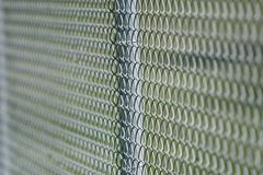Fence. Industrial steel fence showing an interesting pattern Royalty Free Stock Photos