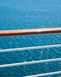 Fence. On the deck of cruise ship royalty free stock photo