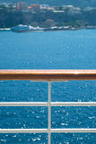 Fence. On the deck of cruise ship stock photos