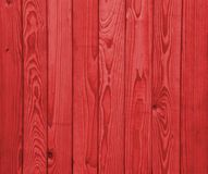 Fence. Wooden fence in dark red Stock Photography