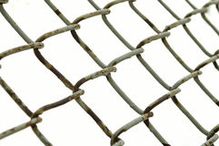 Fence. Rusted wire fence Royalty Free Stock Photos