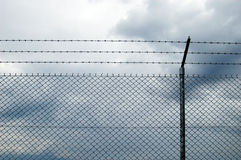 Fence. Cyclone wire fence Stock Photography