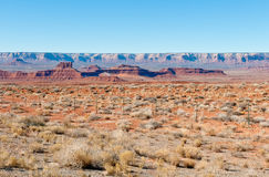 Fence across the desert Stock Images