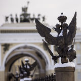 Fence of Alexander Column, Saint-Petersburg Russia winter Royalty Free Stock Photo