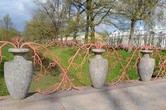 Fence in Alexandrovsky Park, Tsarskoye Selo. Royalty Free Stock Photos