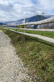 Fence along the road Stock Photography