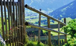 Fence in the Alps Royalty Free Stock Photo