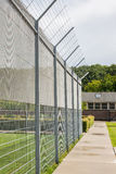 Fence around restricted area Stock Photography
