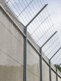 Fence around restricted area Stock Photos