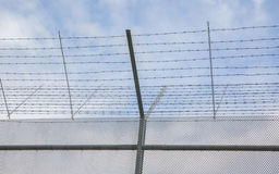 Fence around restricted area Royalty Free Stock Images