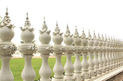 Fence. Around the temple in Thailand Stock Photo