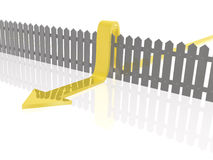 Fence and arrow Stock Photography