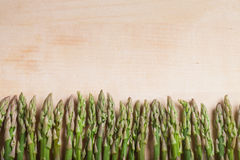 Fence from asparagus. On a birch stock photo