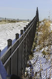 Fence At Fort Trumbull Royalty Free Stock Photos