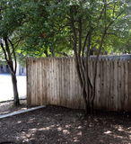 The Fence Atop The Grassy Knoll Stock Photo