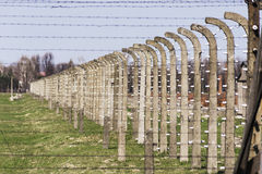 Fence in Auschwitz concentration camp Royalty Free Stock Photography